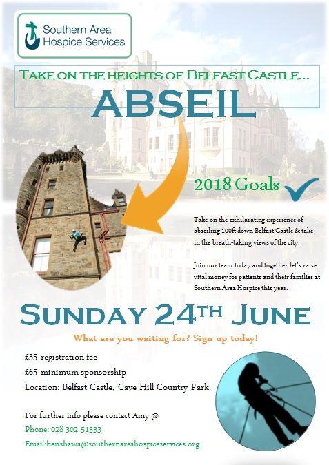 Abseil down Belfast Castle