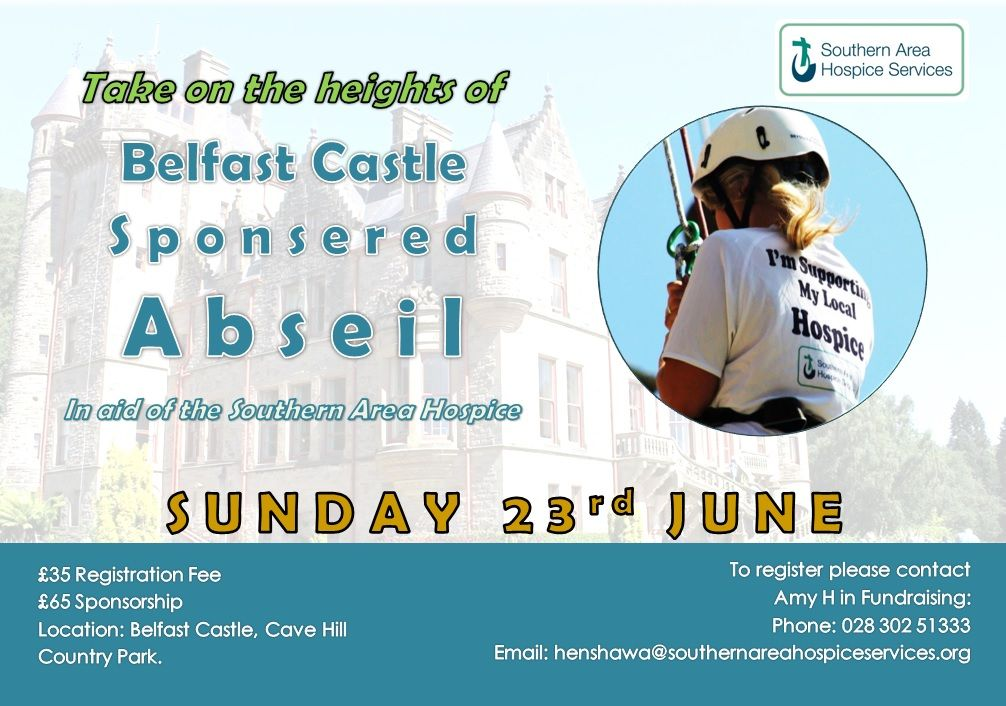 Take on the heights of Belfast Castle with an ABSEIL!
