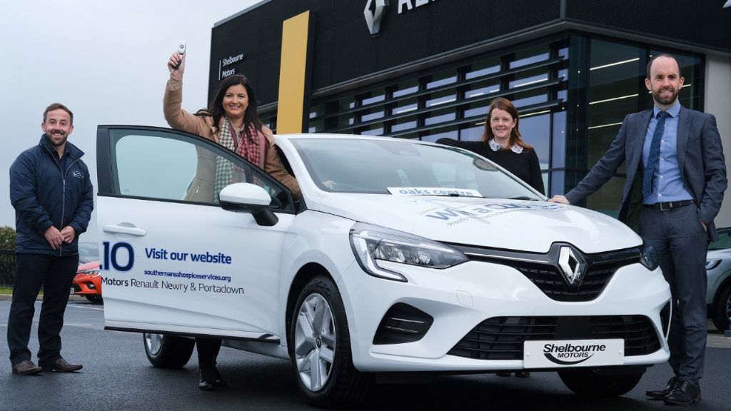 Charlene Drives away with the CLIO in Hospice Car Competition