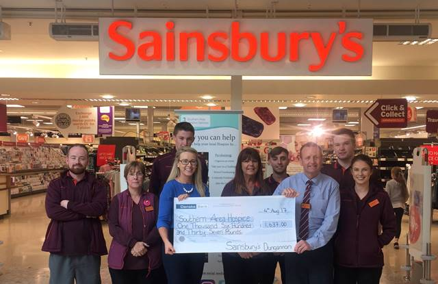 Sainsbury's Dungannon announce Hospice as Local Charity Partner