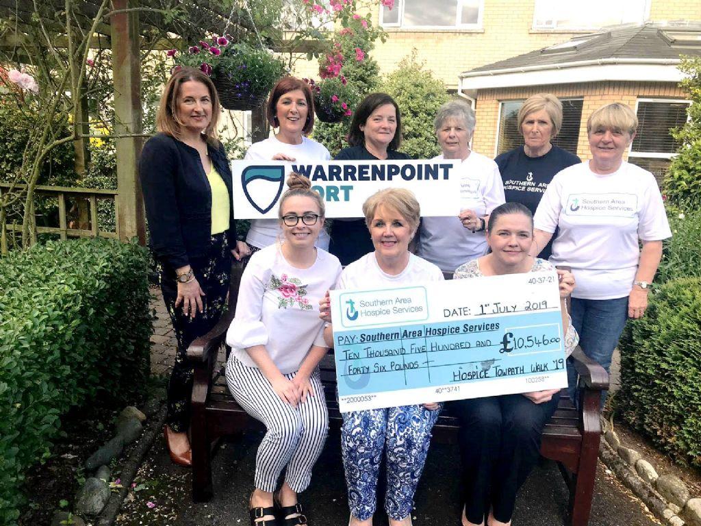 Deborah walks through the £300,000 barrier for Hospice.