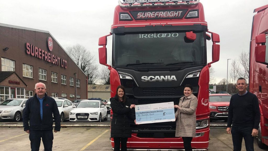 Surefreight Ltd Double Their Christmas Donation to Hospice