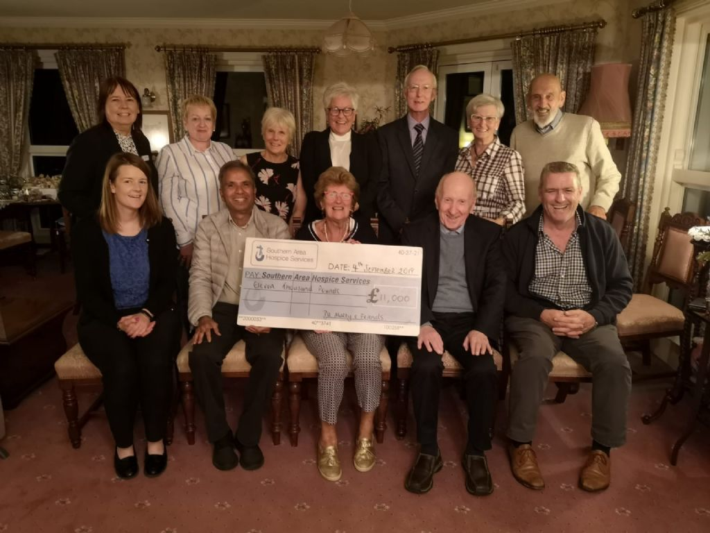 Dr. Murty and Friends Make Presentation to Hospice