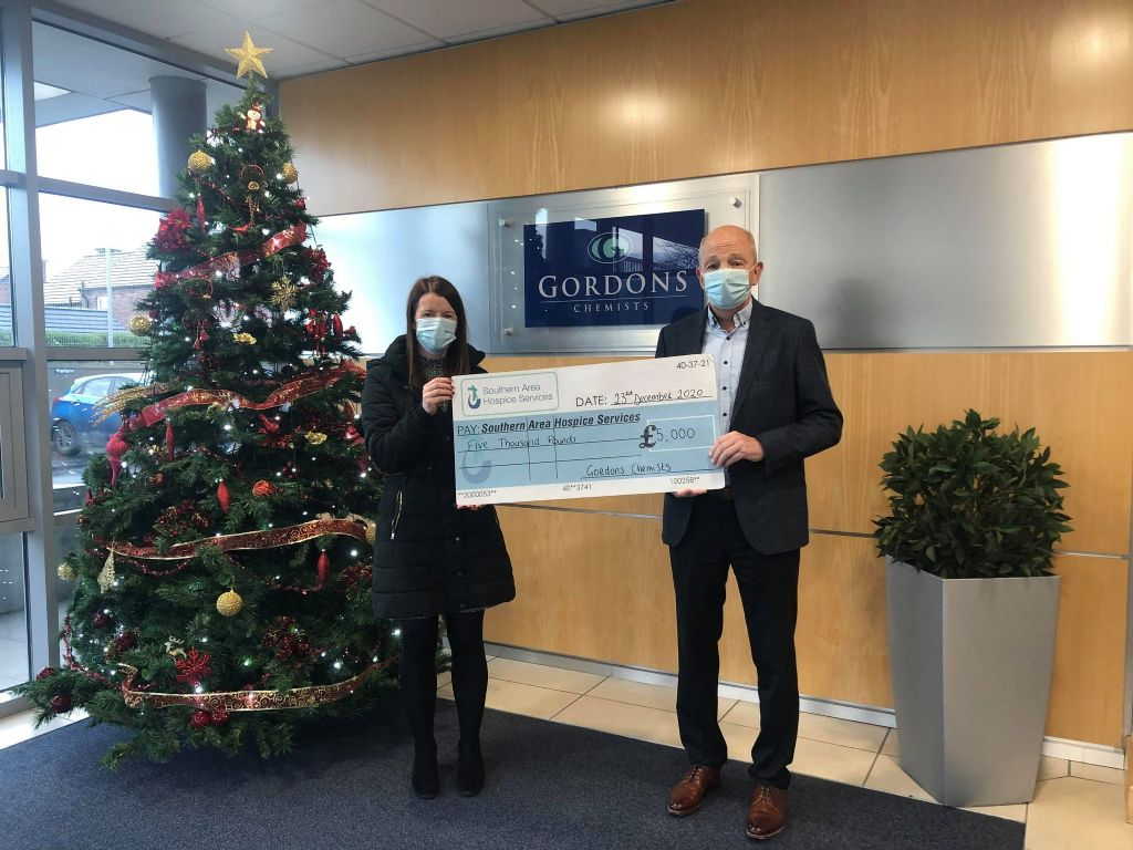Gordons Chemists helping Hospice to continue providing special care this Christmas