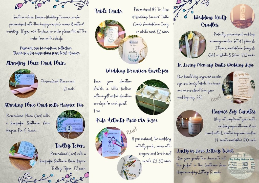 hospice wedding favour brochure inside(3)