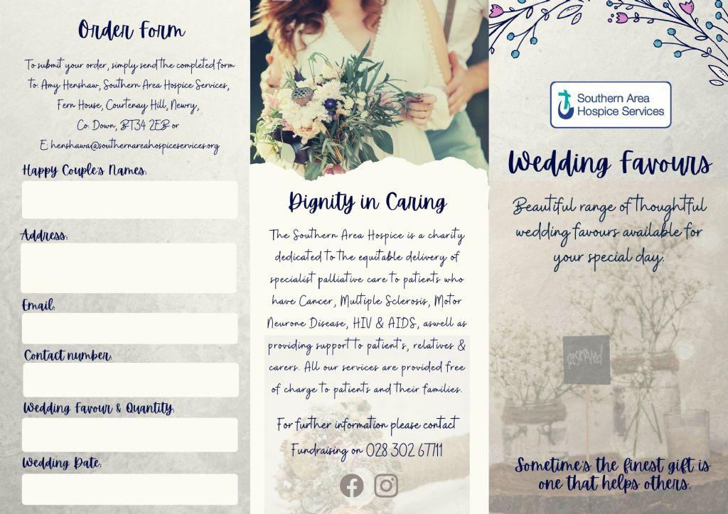 hospice wedding favour brochure outside(2)