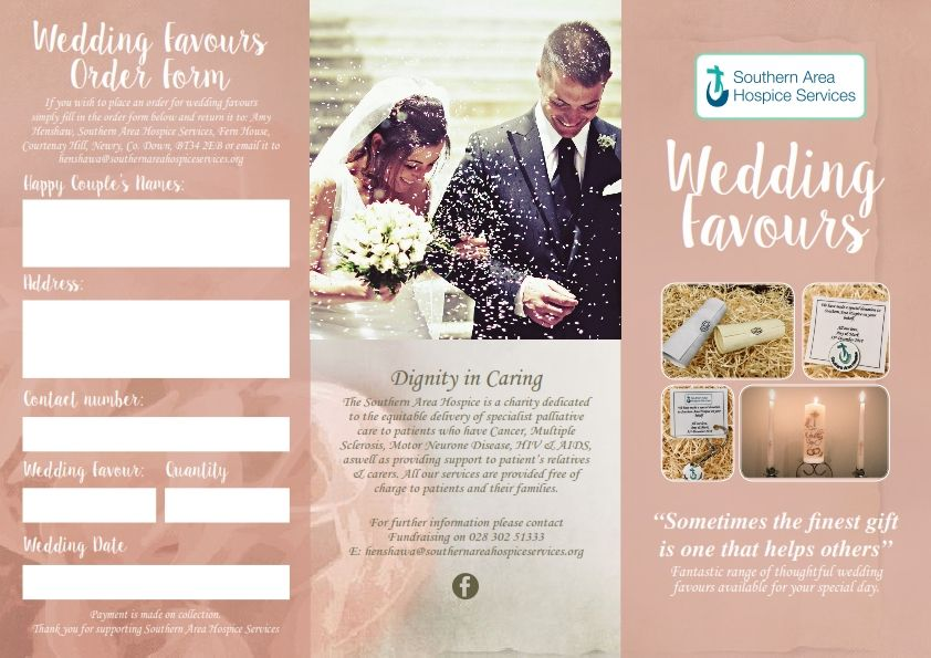 hospice wedding favour leaflet 001