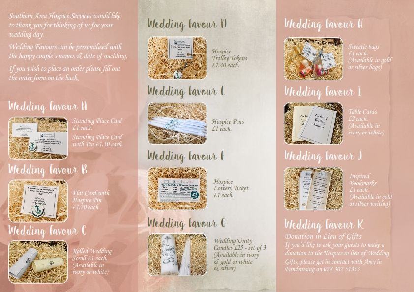 hospice wedding favour leaflet 002