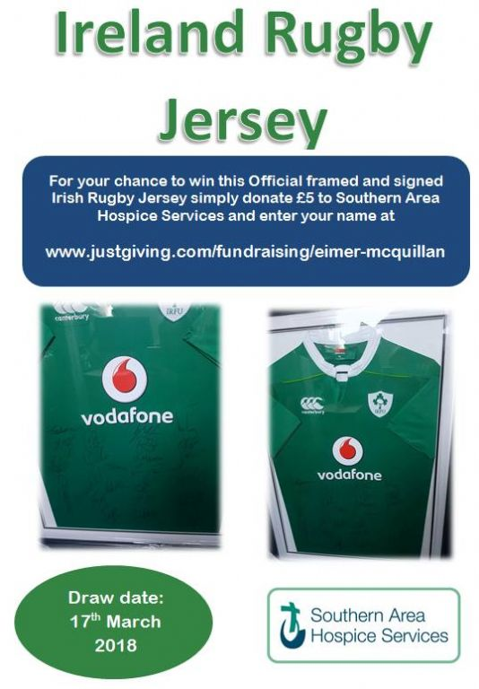 Win a signed and framed Irish Rugby Jersey