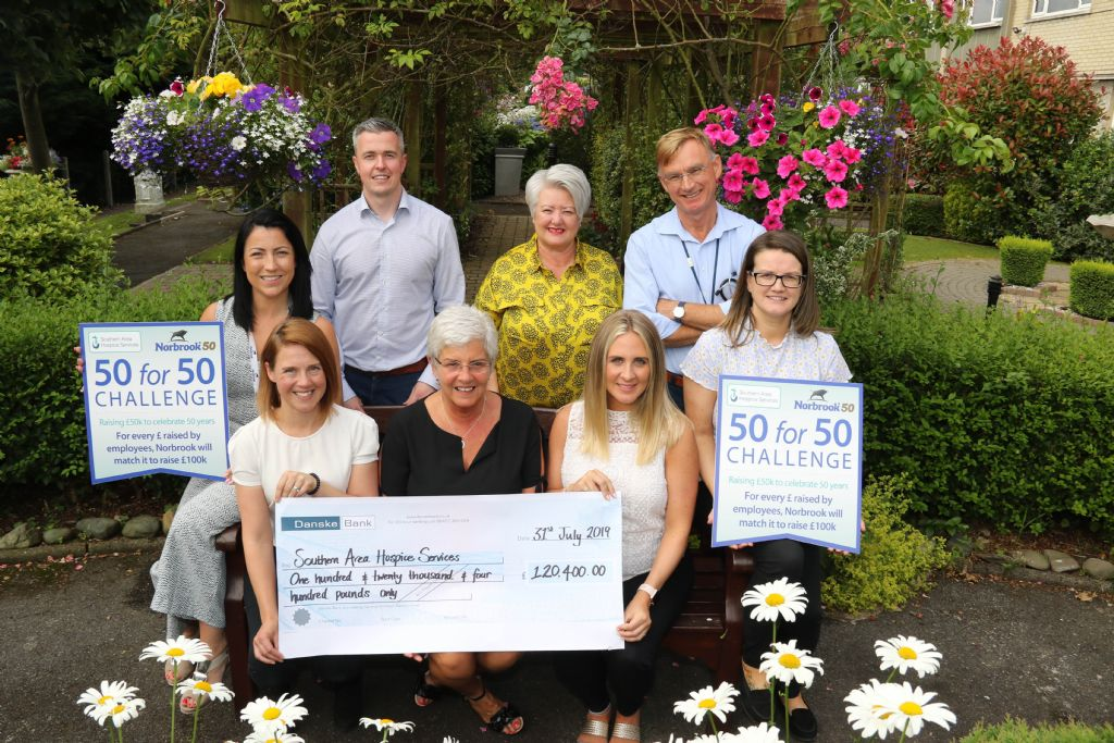 Norbrook present £120,400 to Hospice