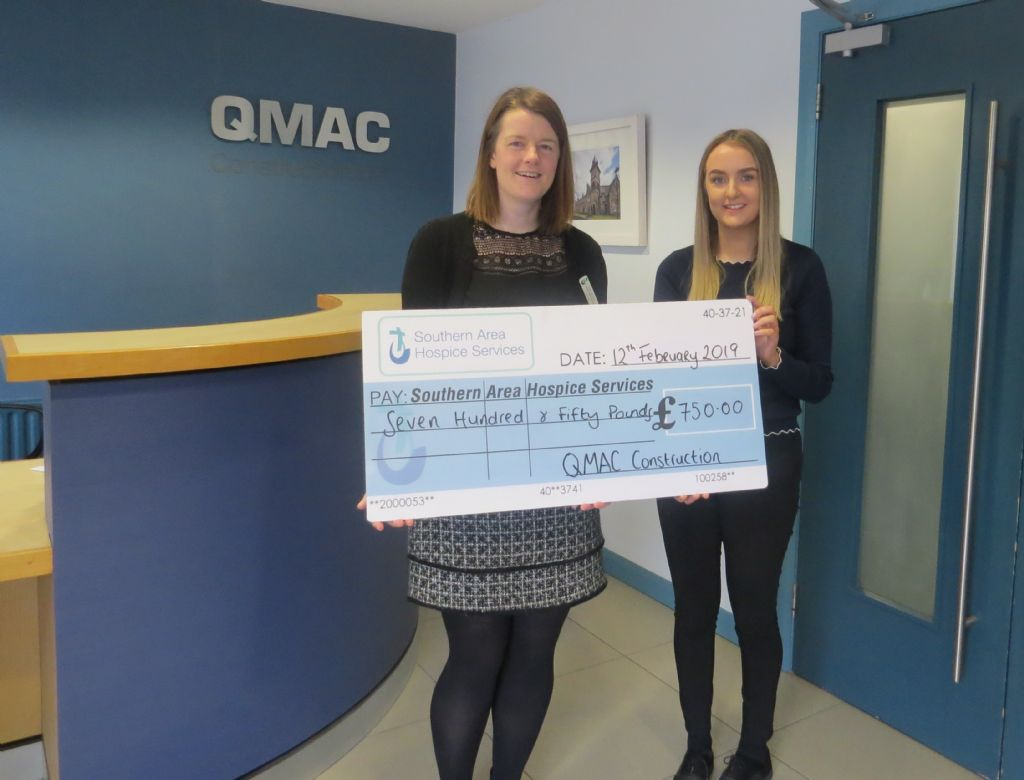 QMAC Construction Donation to Hospice