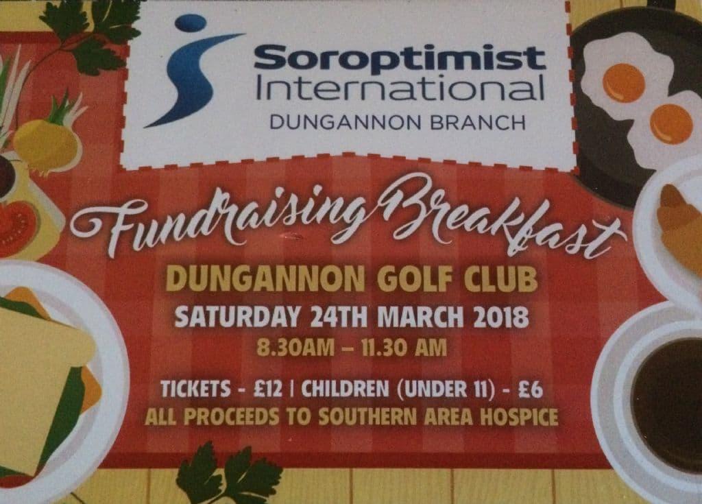 Soroptimist International Dungannon Fundraising Breakfast