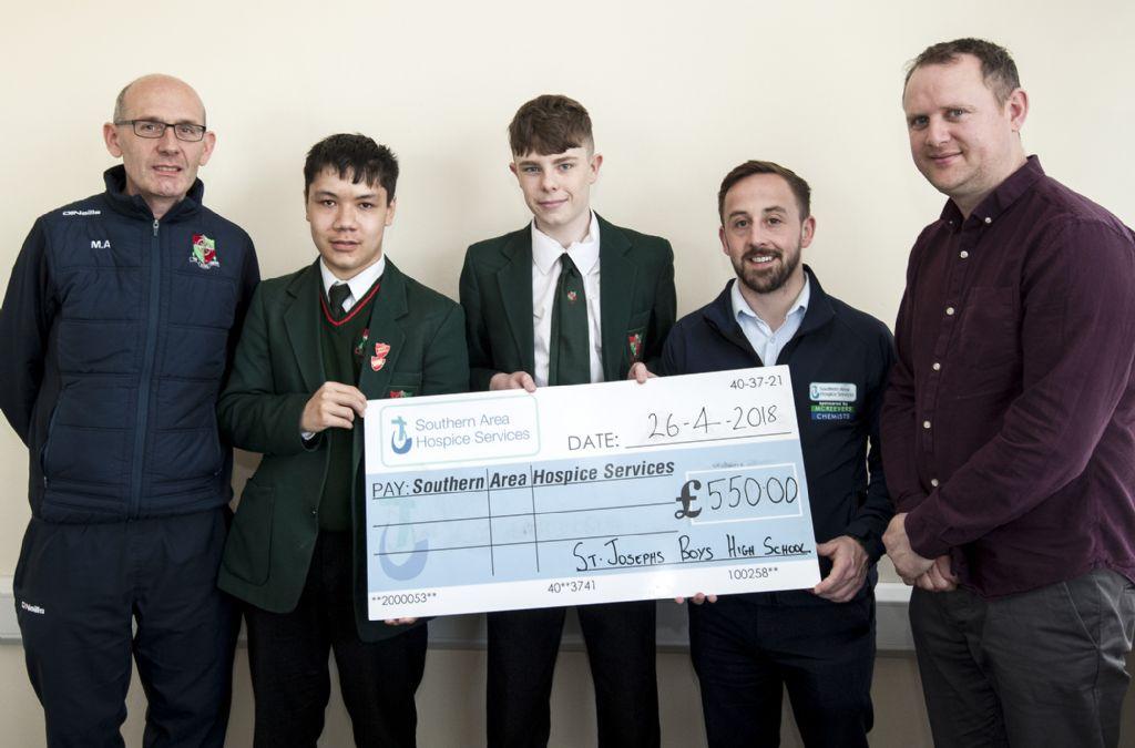 St Joseph's High School raise funds for Hospice
