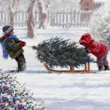 Kids Collecting the Tree