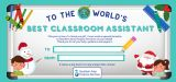 Classroom Assistant's Christmas Gift Certificate