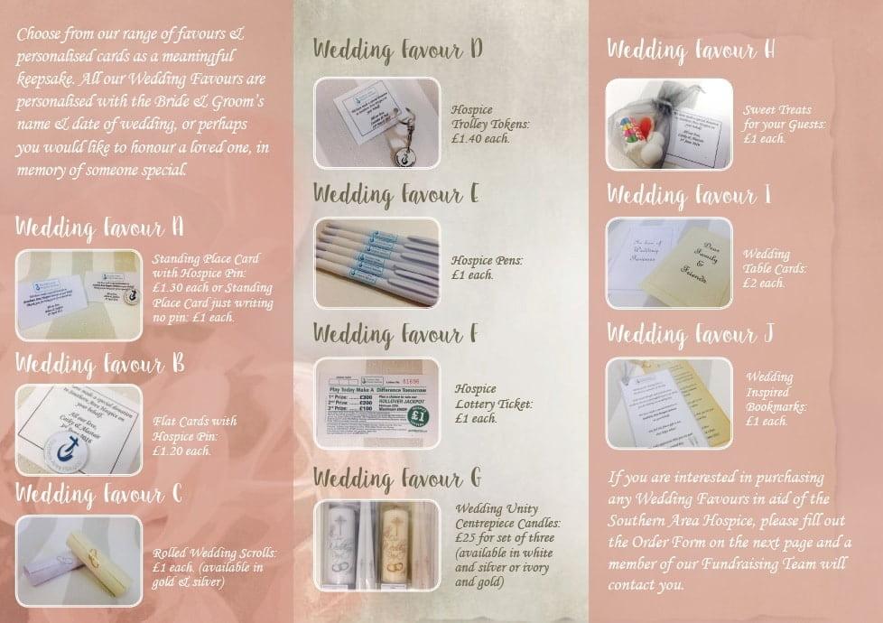 wedding favour brochure inside