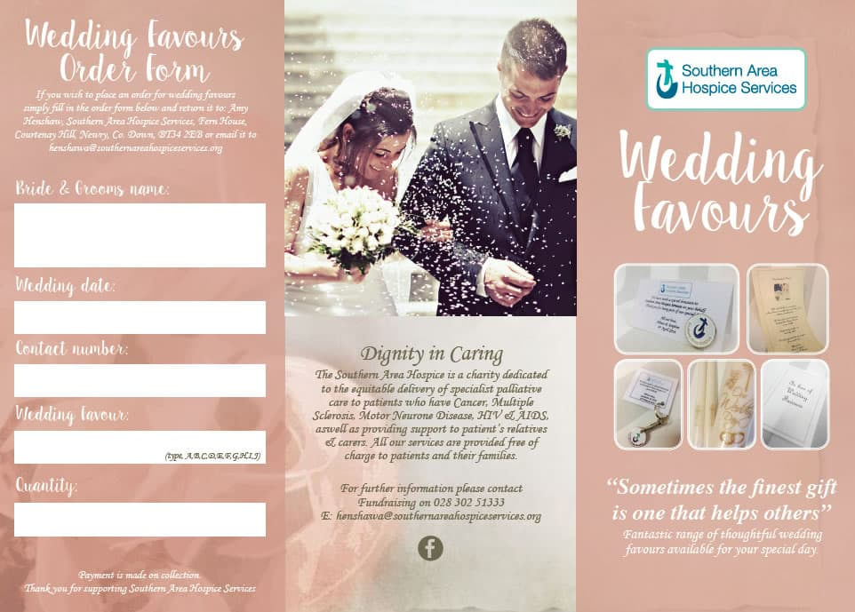 wedding favour brochure outside