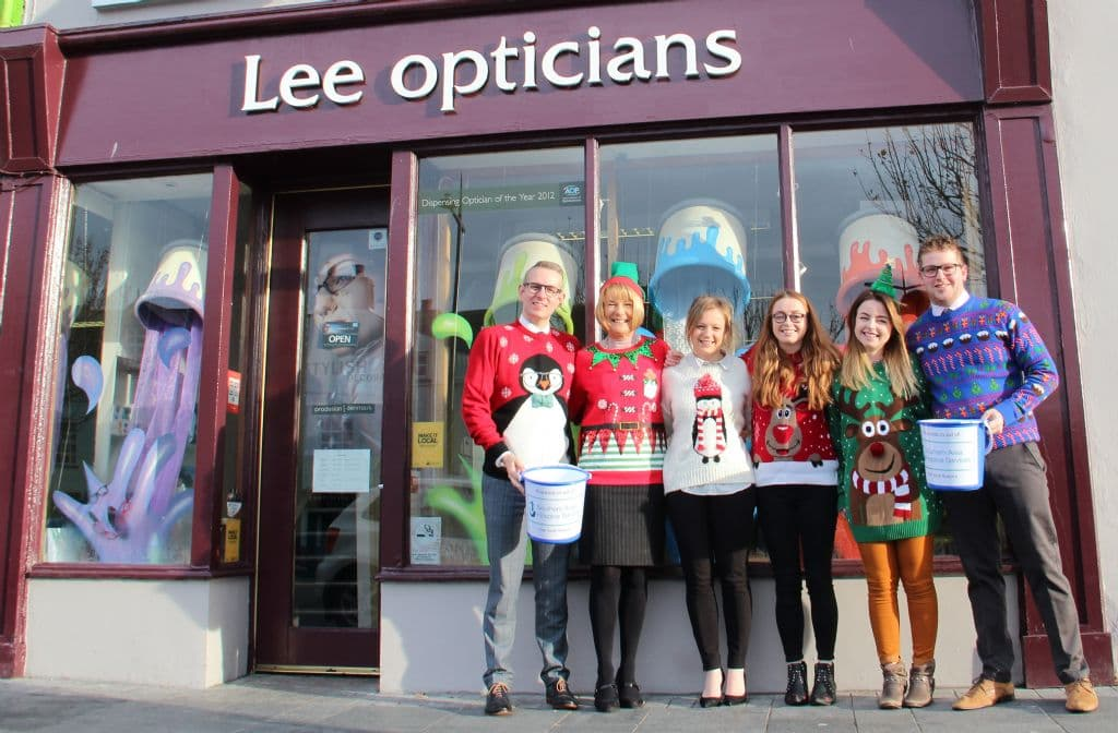 Lee Opticians do their Bit in a Christmas Knit